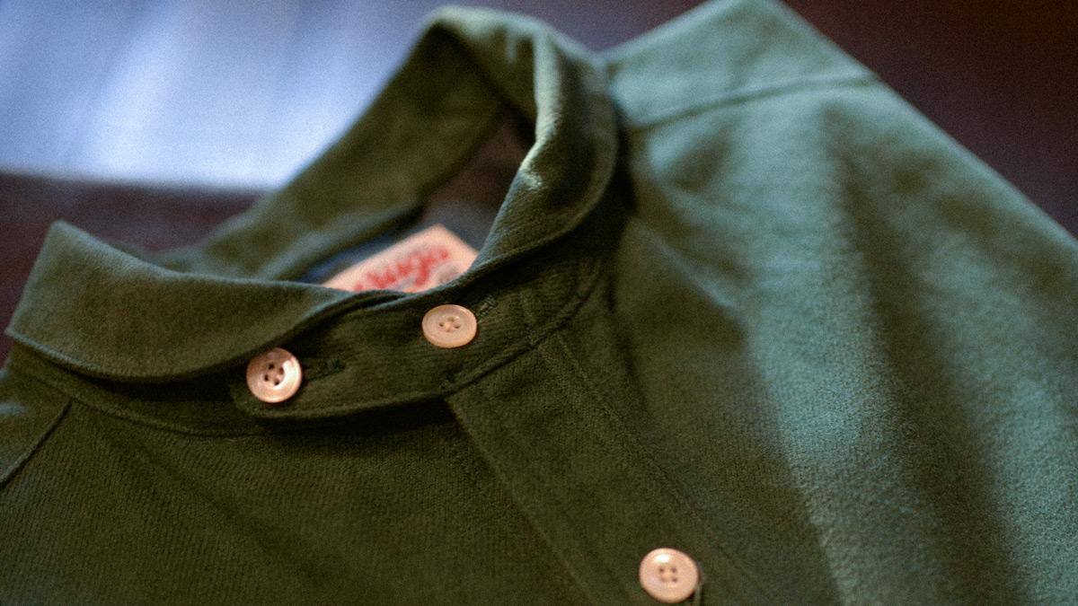 ラウンドカラーシャツ GR-S-128 ゲルガ GERUGA ROUND COLLAR SHIRTS