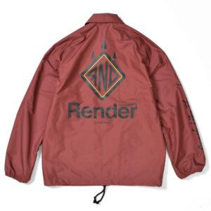 メインロゴコーチジャケット レンダー RENDER MAIN LOGO COACH JACKET RDJ917