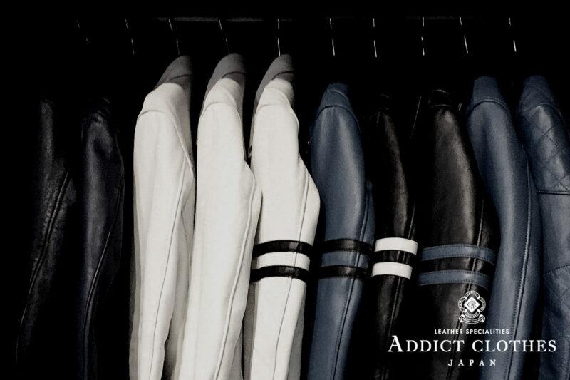 アディクトクローズジャパン レザージャケット パーソナルオーダー ADDICT CLOTHES JAPAN