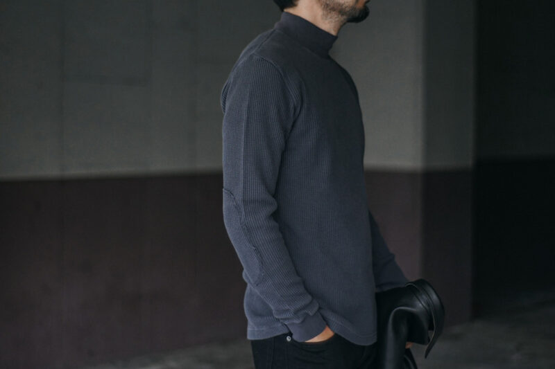 ヘビーウェイトワッフルモックネック ACV-TM02 ACVM ADDICT CLOTHES JAPAN HEAVY WEIGHT WAFFLE MOC NECK