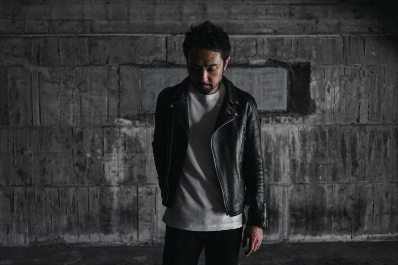 シープスキンダブルライダースジャケット アディクトクローズジャパン AD-02 ADDICT CLOTHES JAPAN SHEEPSKIN DOUBLE RIDERS JACKET